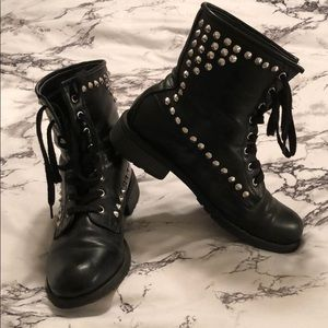 Combat style boots from Charlotte Rousse!